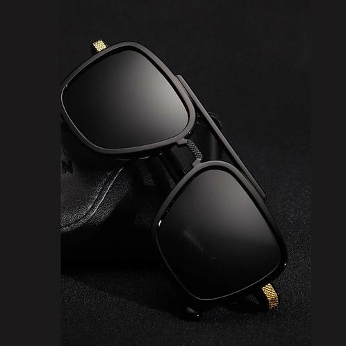 Men Square Top Bar Sunglasses