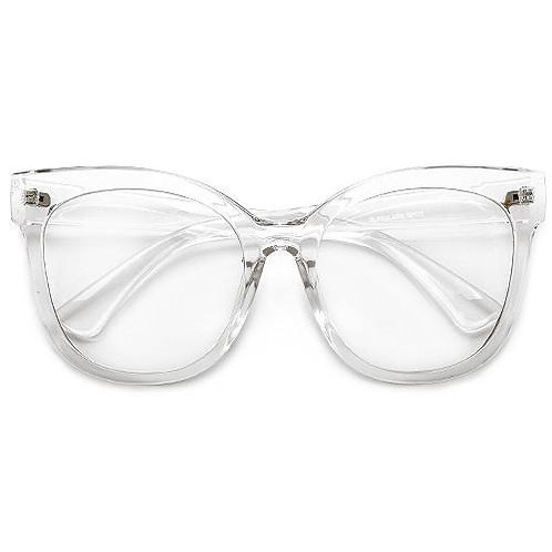 Chic Cat Geek Eye Oversized Clear Frame