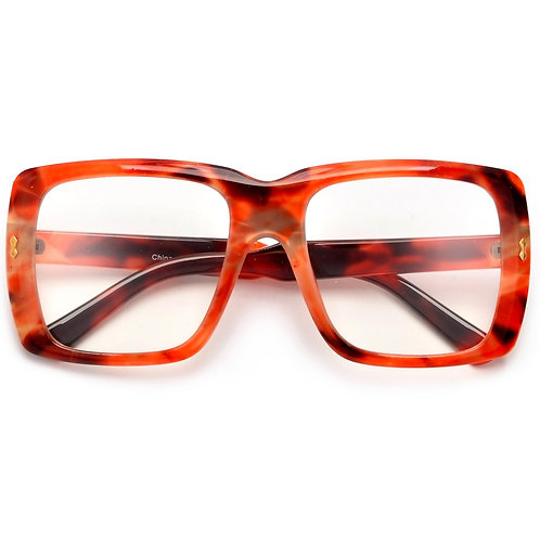 Thick Squared Oversize Clear Eyewear