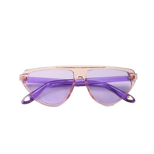 Crystal Pink Lavender Aviator Sunnies