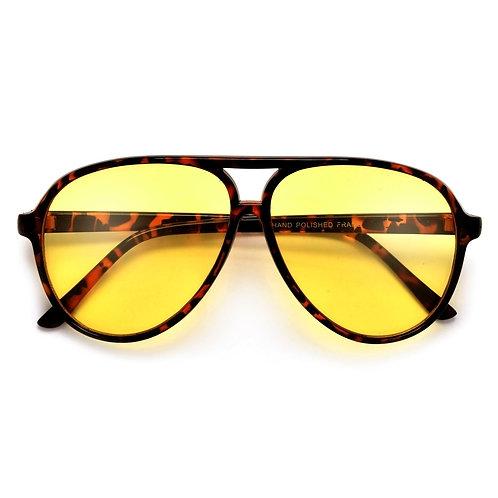 Oversize Yellow Lens Aviator