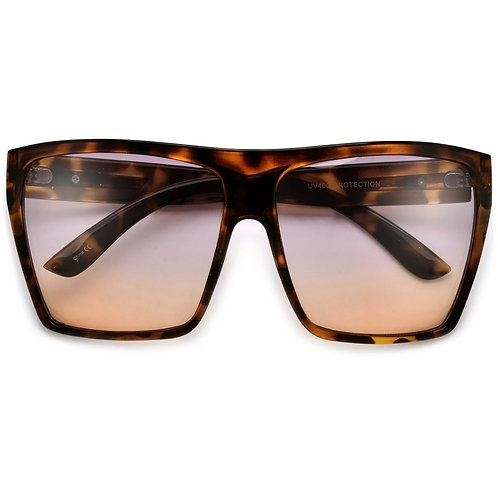 Oversized Square Flat Top Frame - Gradient