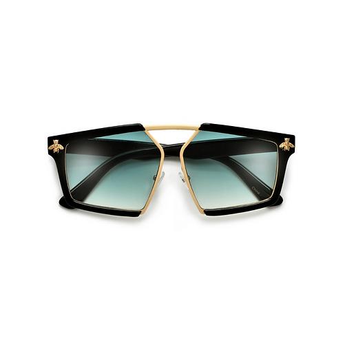 Geometric Sleek Aviator Sunglasses
