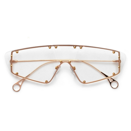 Clear Rimless Studded Shields