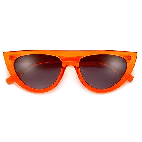 Crystal Modern Flat Top Cat Eye Sunglasses