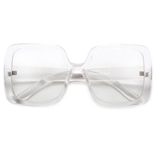 Oversized Square Clear Frame