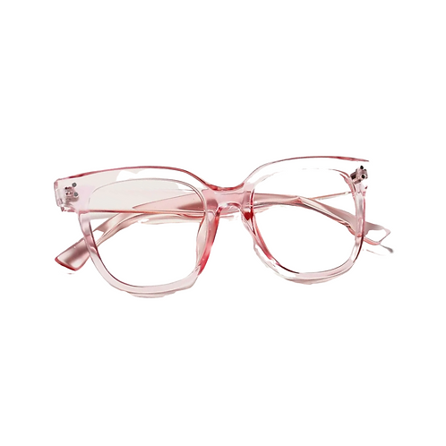 Pink Crystal Clear Frames