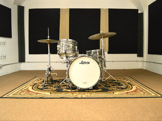 Room A with Ludwig Club Date 1965 Black Oyster (original) 20''-12''-14''