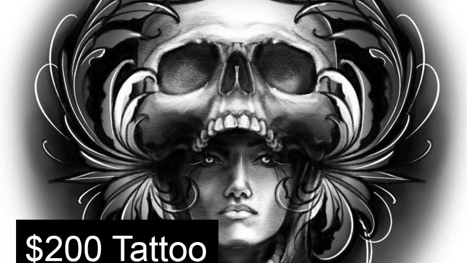 $200 Tattoo Deposit