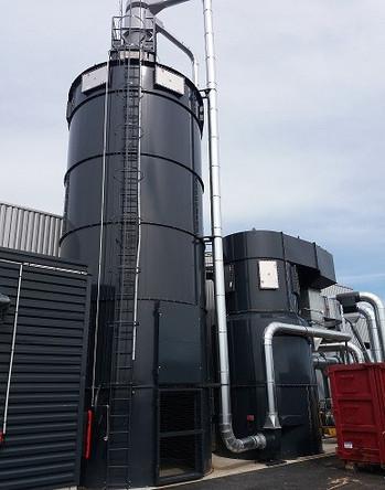 centrale d'aspiration, silo et chaudière