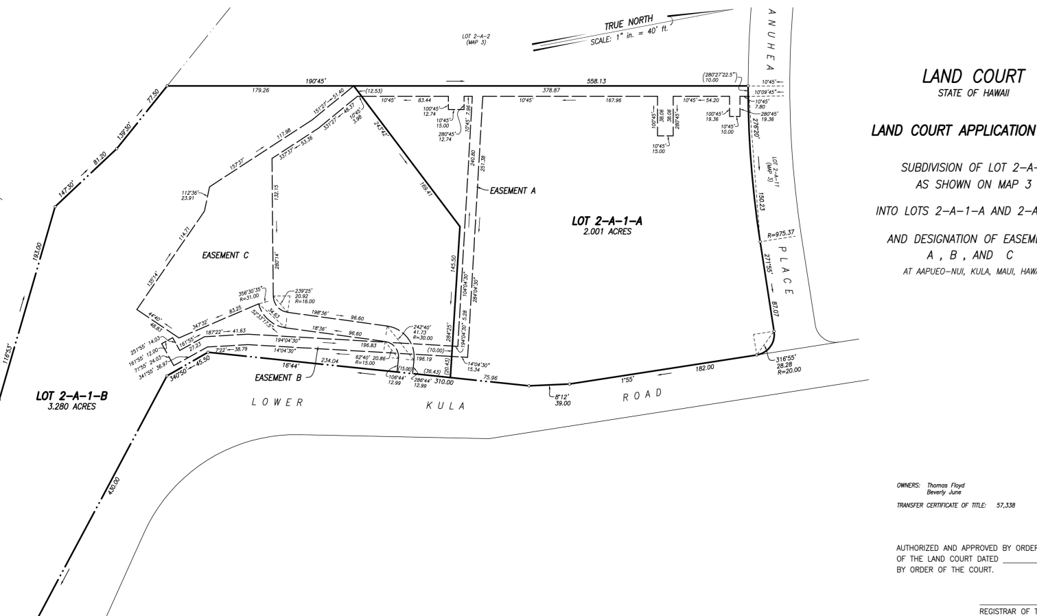Subdivision Map (Land Court)