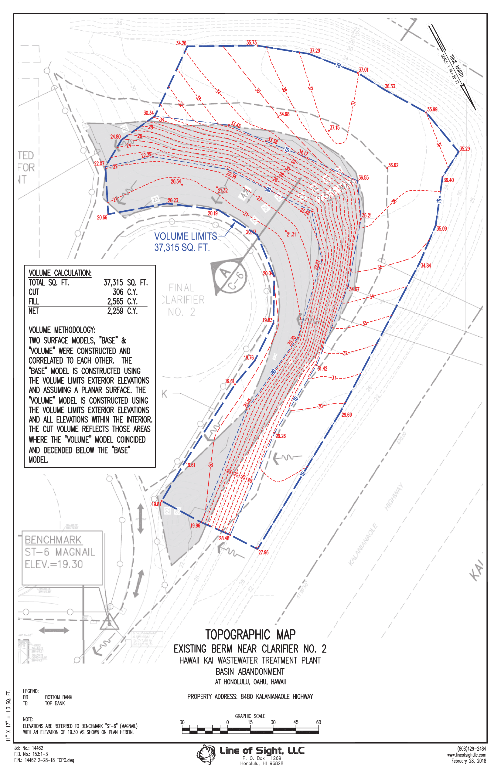 Stockpile Volume Topographc Map