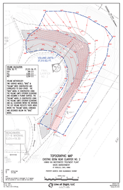 Stockpile Volume Topographc Map