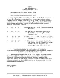 Legal Description of Lot
