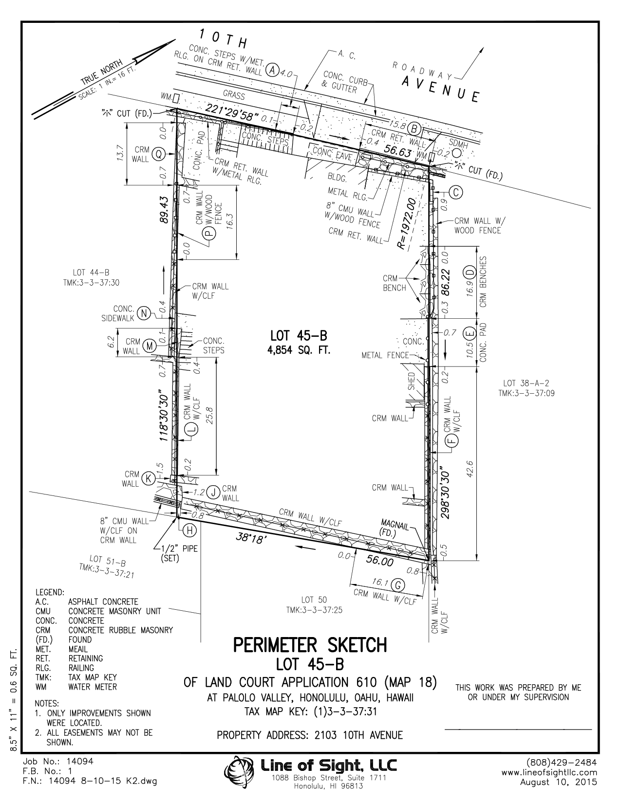 Real Estate (K2) Perimeter Sketch