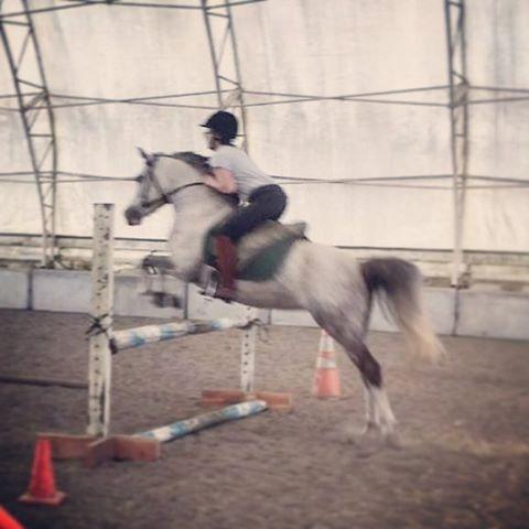 Katrina Per jumping a 13hh Pony