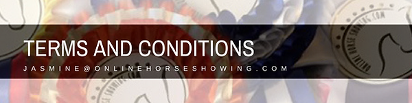 Online Horse Showing's Terms and Condition