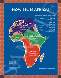 This popular poster & curriculum guide provide an excellent entry-point to teaching about Africa. The poster enables students to conceptualize the sheer magnitude of the African continent.