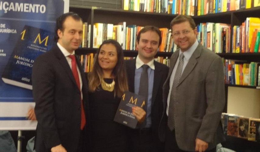 Da esquerda para direita: Rogério Cury, Ana Paula, Cristiano Barros e Levy Magno.
