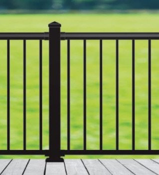 Aluminum Deck Railing Kit (Black)