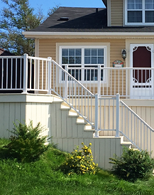 White Aluminum Rail_Deck_Posts_Stairs (2
