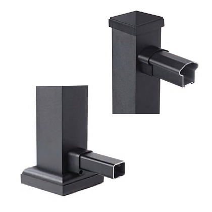 Rail & End Bracket (Black)