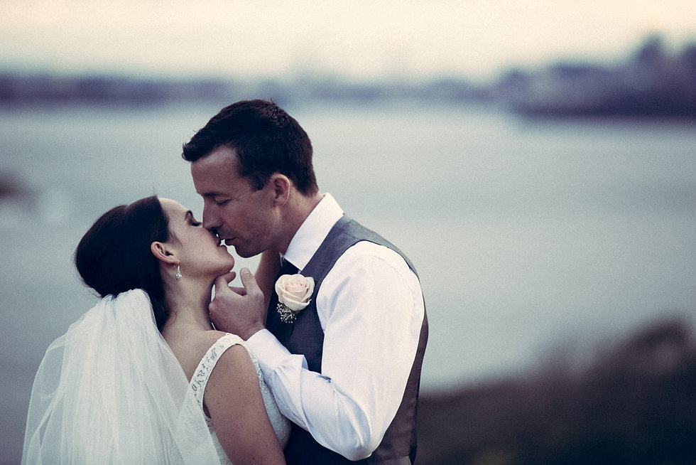 Northern Beaches Wedding Photography Sydney Harbour in the background