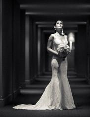 Manly Novotel Wedding - Cara in wedding dress