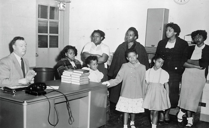 African American Parents attempting to Enroll Their Children in School