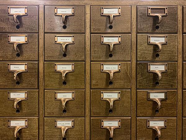 Bettmann Archive card catalog