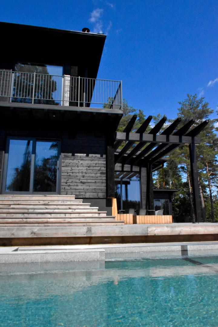 Inkoo, Villa Unica, uima-allas
