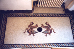 sol de toilettes.Copie motif antique