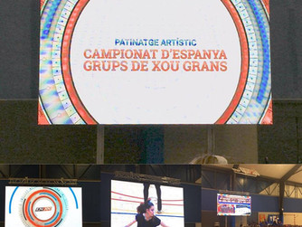 Montaje visual para el XV Campeonato de España de Patinaje Artístico.