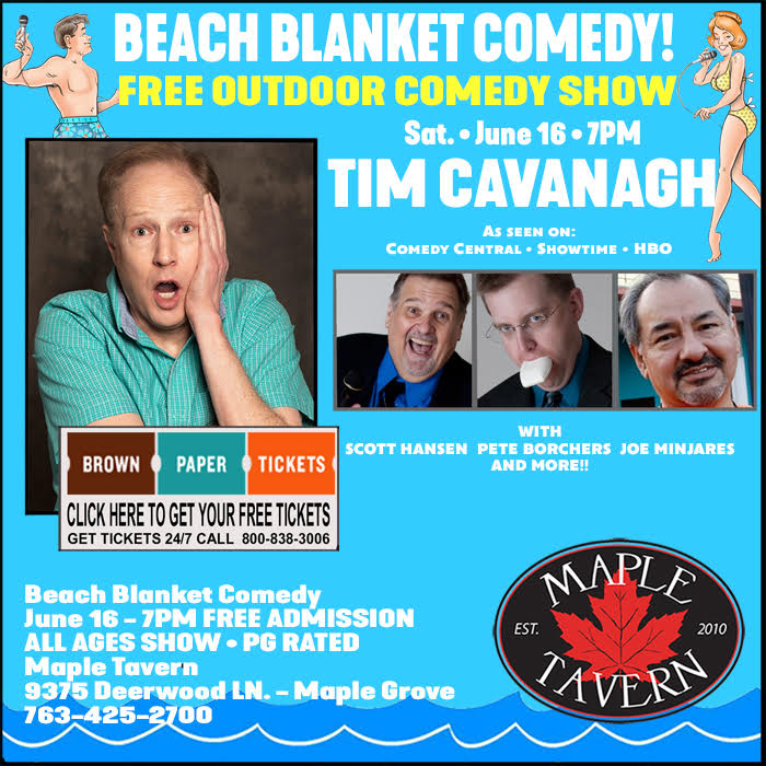 Beach Blanket Volleyball: Beach Blanket Comedy At Maple Tavern