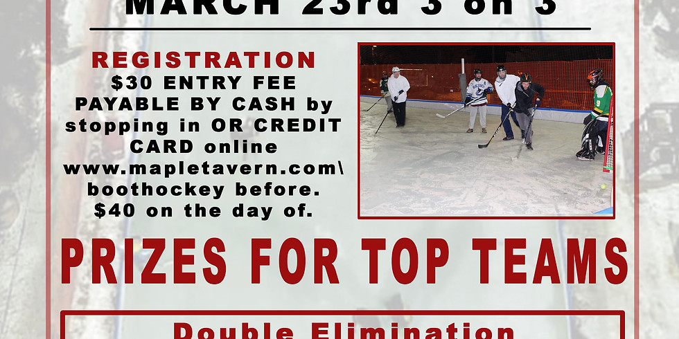 March 23rd 3 on 3 Knee Hockey Tournament