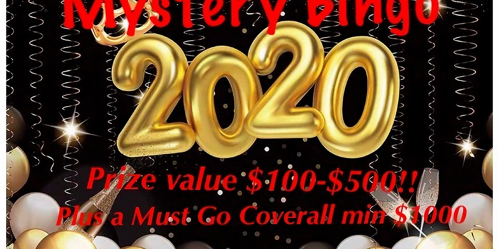 New Years Day Mystery Bingo! OMGHA