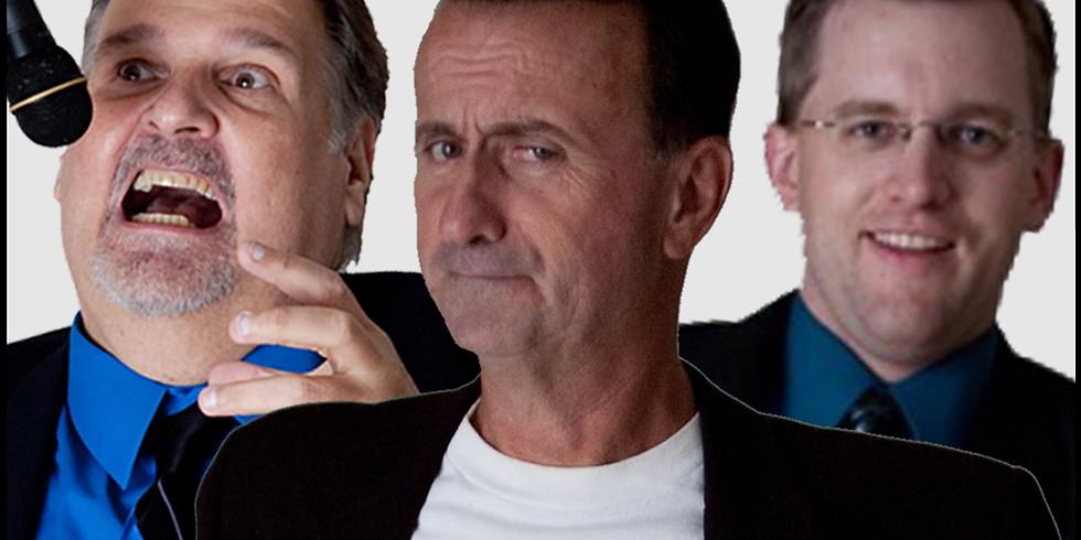 Scott Hansen, Jeff Gerbino  and Pete Borchers Comedy Show