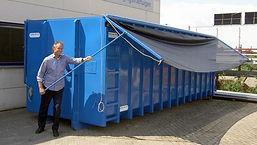 D.C.S. Nijmegen container met klapnetsysteem