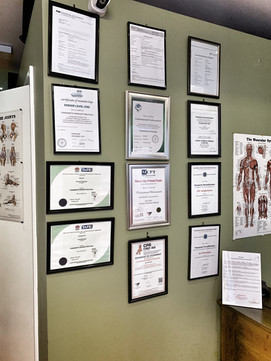 Therapist Qualification and Certificate