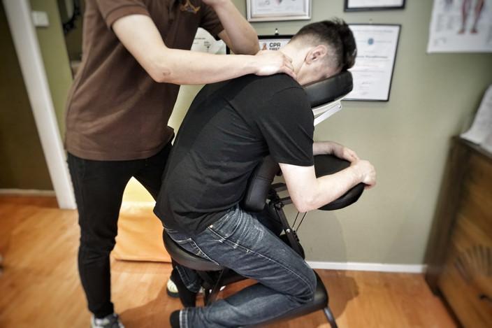 Neck & Shoulder Massage on Massage Chair