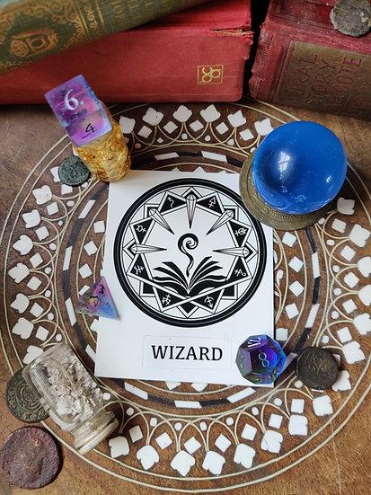 Wizard Class Sticker