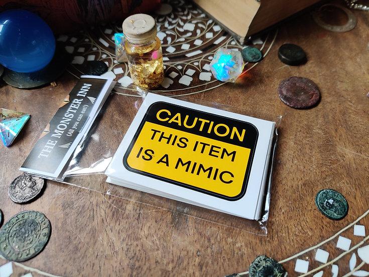 10 Mimic Warning Stickers