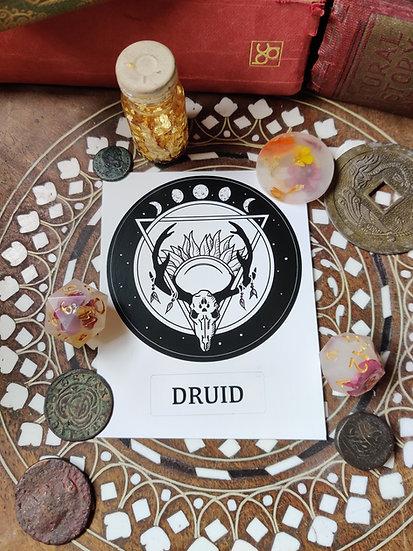 Druid Class Sticker