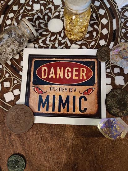 Graphic Mimic Warning Sticker