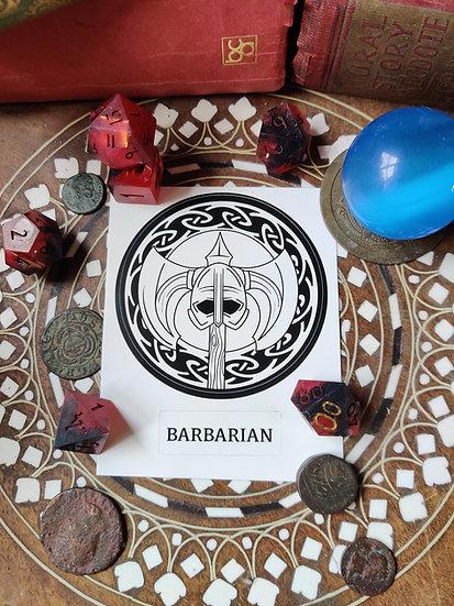 Barbarian Class Sticker