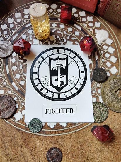 Fighter Class Sticker