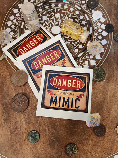 Graphic Mimic Warning Sticker 5 Pack
