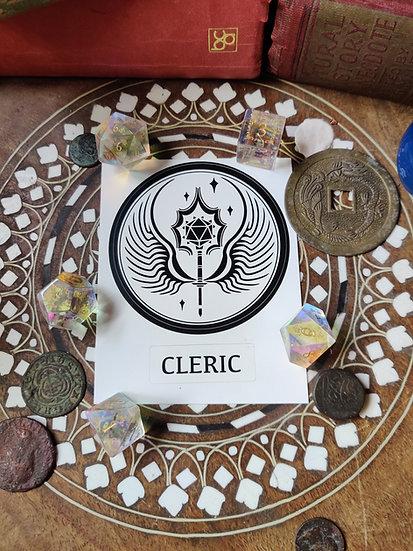 Cleric Class Sticker
