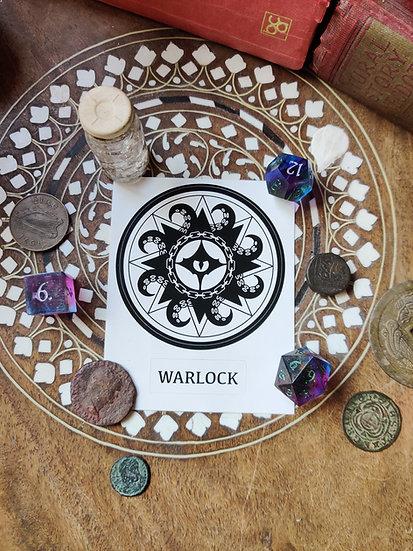 Warlock Class Sticker