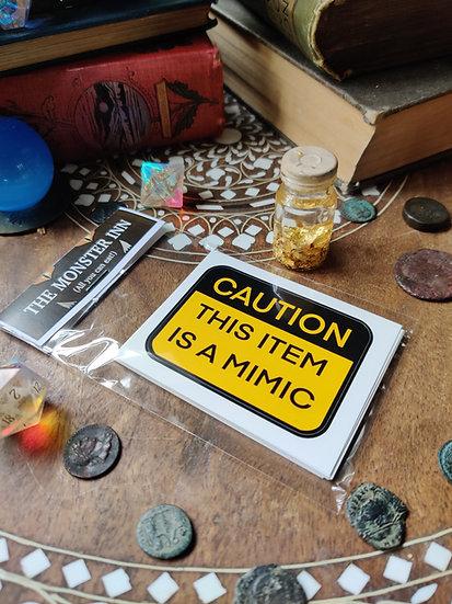 5 Mimic Warning Stickers